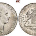 ドイツ バイエルン 1869年 2ターラー銀貨 ルートヴィヒ2世【入札期限:2020年6月19日】