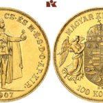 1907年100コロナ金貨