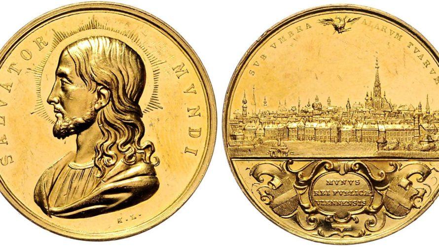 オーストリア ウィーン都市景観 金メダル(6ダカット相当)サルヴァトーレ・ムンディ 【入札期限:2020年6月30日】