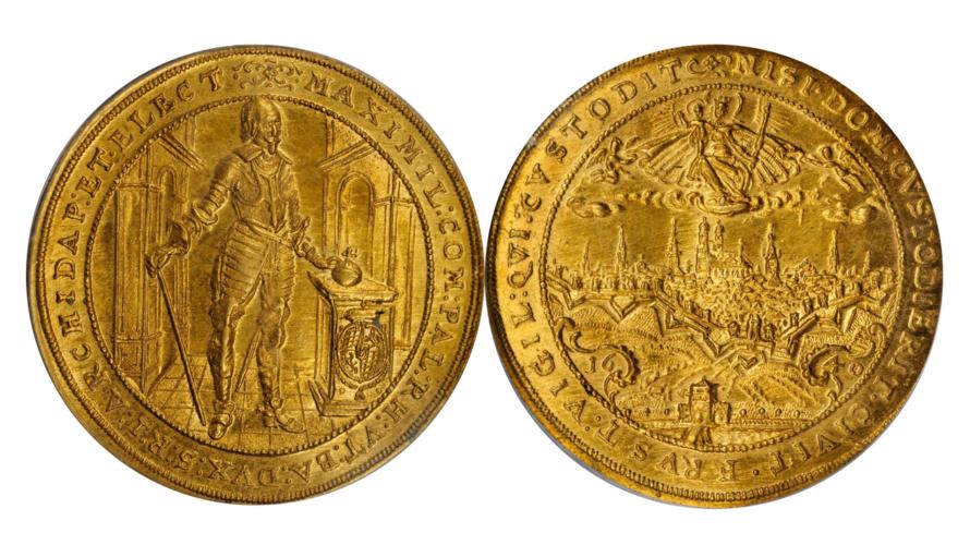 ドイツ バイエルン 1640年 マクシミリアン1世 5ダカット金貨 PCGS MS63【入札期限:2020年8月5日】