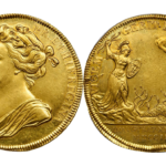 イギリス 1702年 アン女王 コロネーションゴールドメダル PCGSMS-62【入札期限:2020年8月5日】