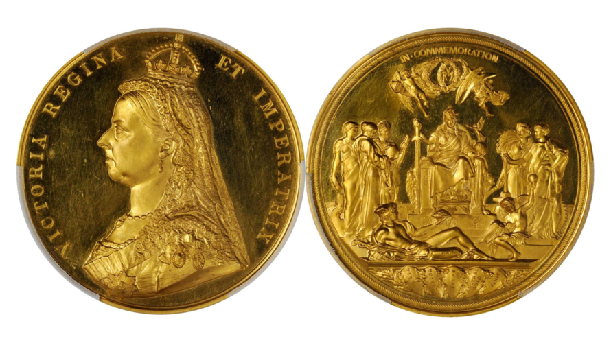 イギリス 1887年 ヴィクトリア女王 ジュビリー ゴールドメダル PCGS SP63【入札期限:2020年8月5日】