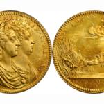 イギリス 1689年 ウィリアム&メアリー コロネーション ゴールドメダル PCGS MS62【入札期限:2020年8月5日】
