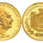 モンテネグロ 1910年 100ペルペラ金貨 PCGS PR62 DEEP CAMEO【入札期限:2020年10月26日】