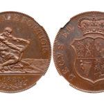 イギリス1820年 パターンクラウン銅貨 ヘラクレス NGC PR62【入札期限:2021年1月12日】