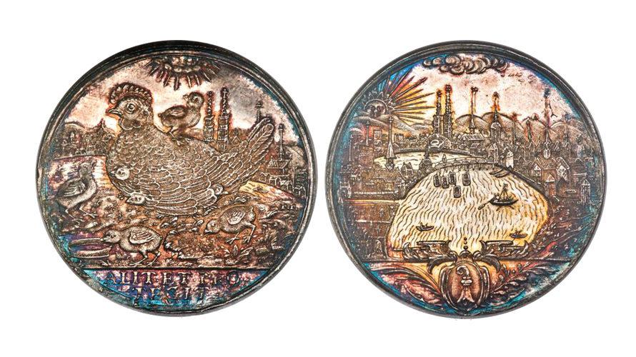 スイス バーゼルND(1629-1653) メダリックターラー 都市景観 NGC MS64【入札期限:2021年1月20日】