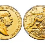 オーストリア 1908年 100コロナ金貨 プルーフ 雲上の女神 NGC PF64CAMEO【入札期限:2021年1月20日】